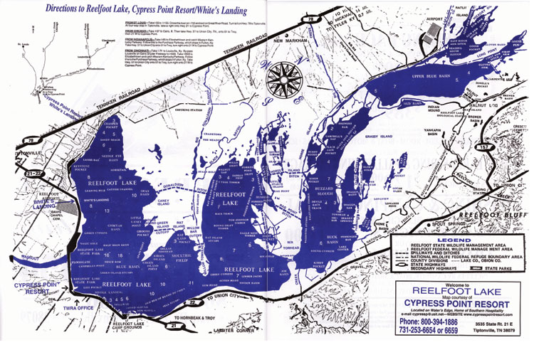 Reelfoot Lake Map